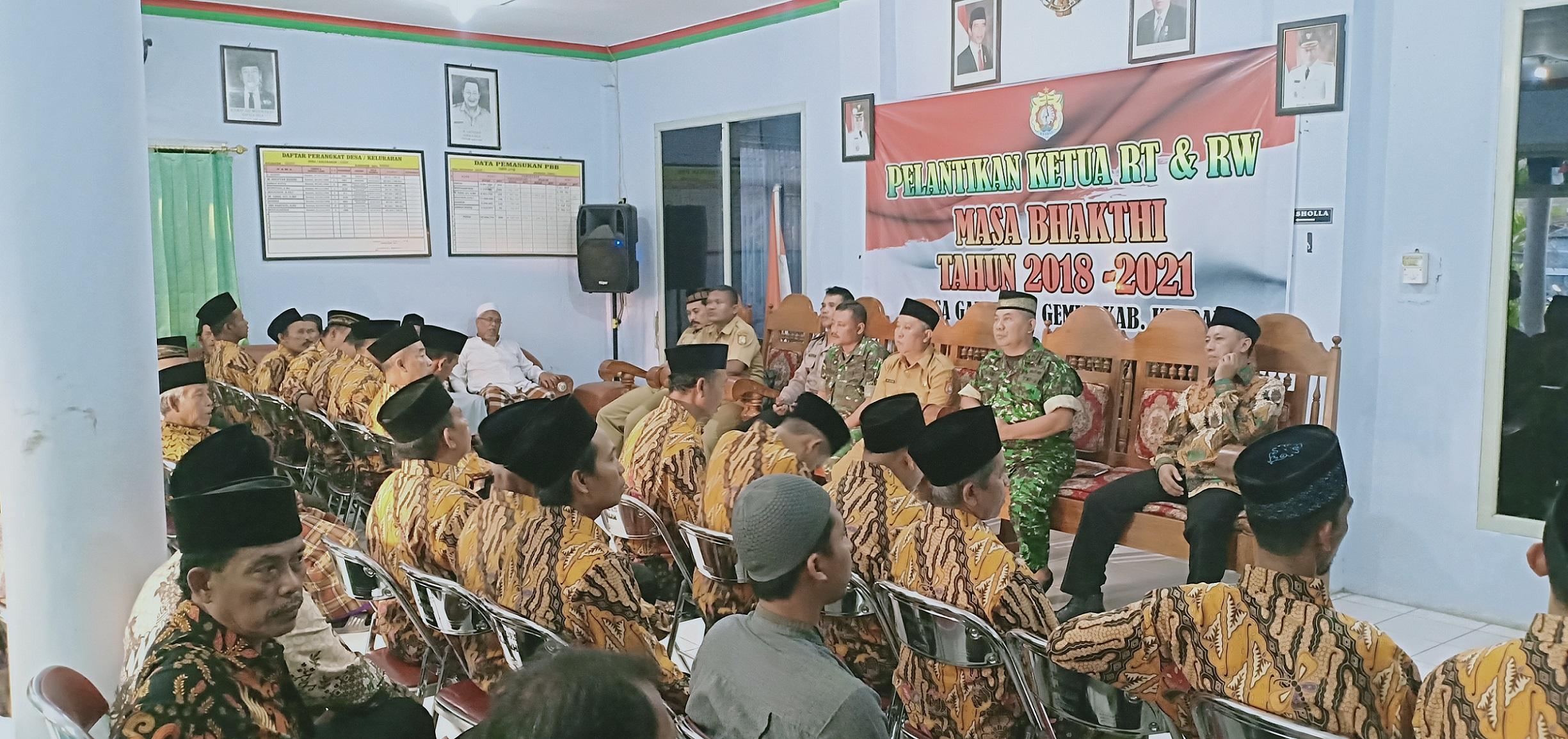 Pemerintah Desa Galih Lantik Ketua RT & Ketua RW Masa Bakti 2018 - 2021