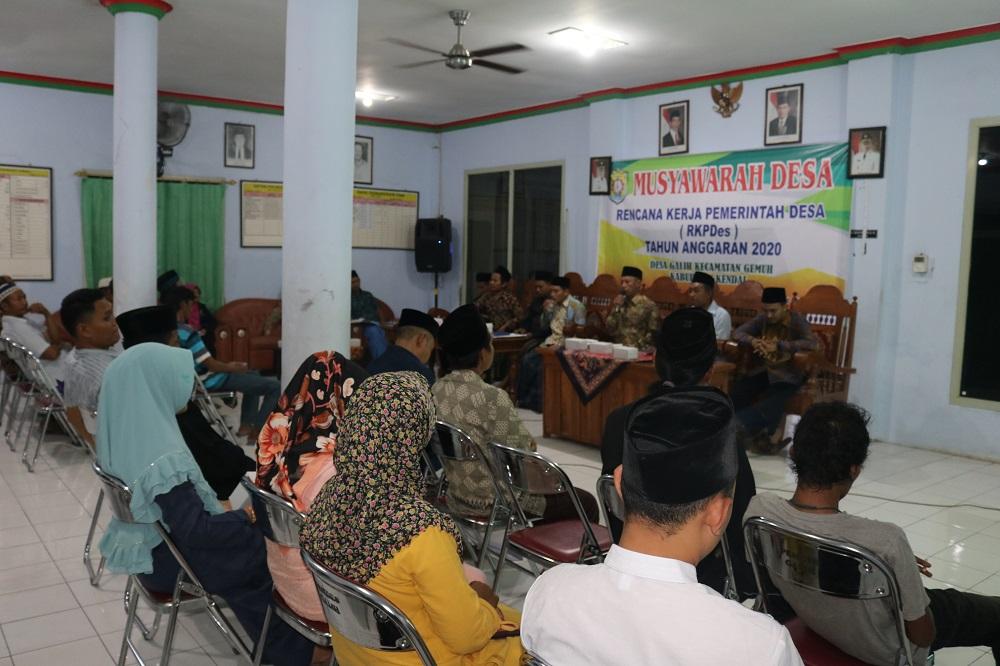Musyawarah Desa Bahas RKP Desa Tahun 2020.